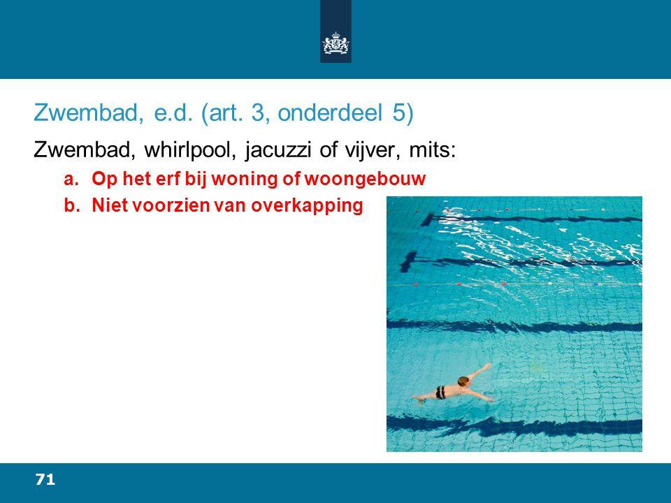 71 Zwembad, e.d.(art.