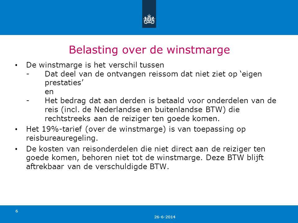 26-6-2014 Wat als reis niet onder de reisbureauregeling valt.