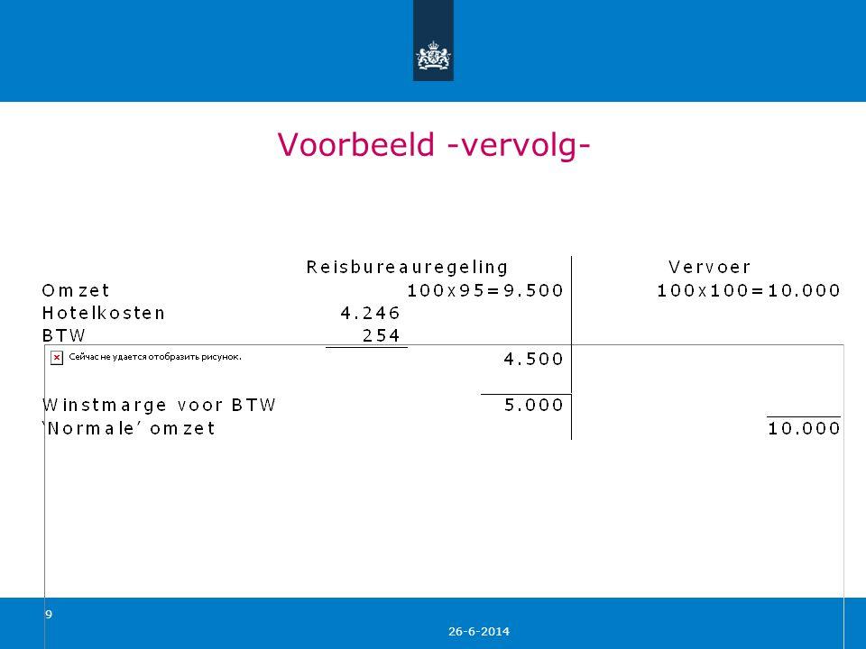 26-6-2014 20 Overgangsregeling 1 • De reisbureauregeling geldt voor reizen die op of na 1 april 2012 eindigen.