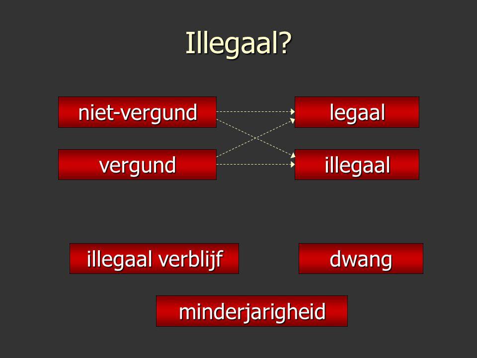 Illegaal? minderjarigheid dwang illegaal verblijf niet-vergundlegaal vergundillegaal