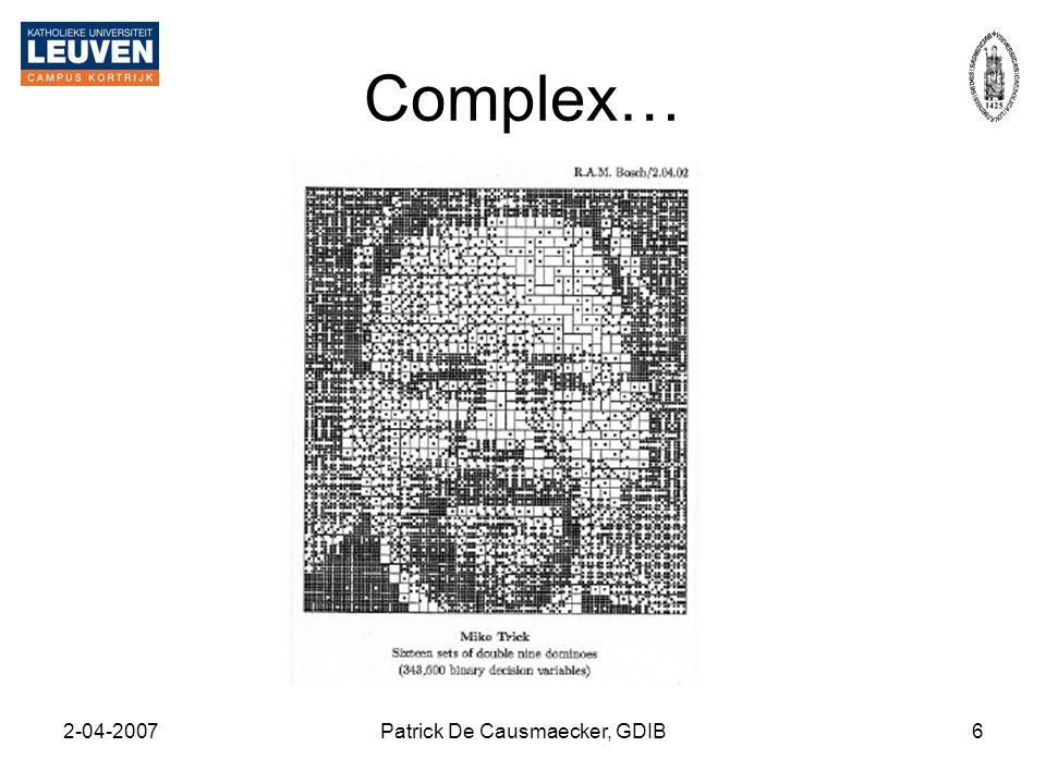 2-04-2007Patrick De Causmaecker, GDIB6 Complex…