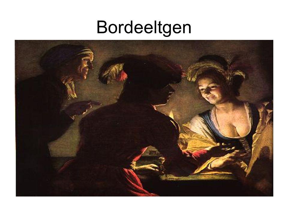 Jan Steen : De gevolgen van onmatigheid •Een dronken vrouw knielt en geeft een papegaai wijn te drinken.