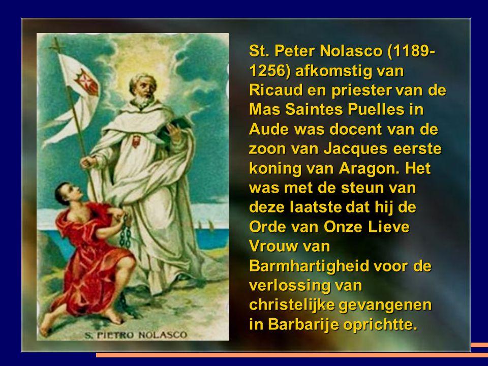De orde van St. Johannes van Matha (1160-1213) Provençaal van Spaanse afkomst, stichter van de Orde van de Heilige Drie-eenheid en de verlossing van g