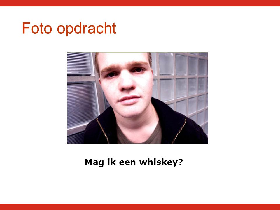 Foto opdracht Mag ik een whiskey