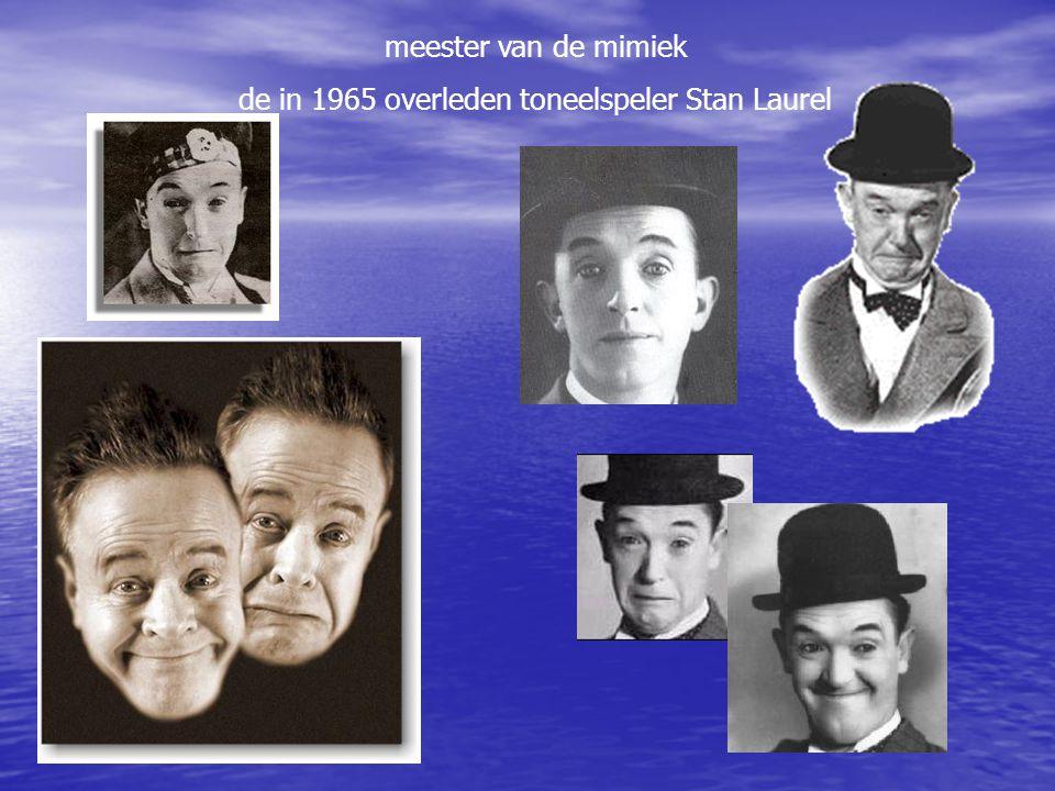 meester van de mimiek de in 1965 overleden toneelspeler Stan Laurel
