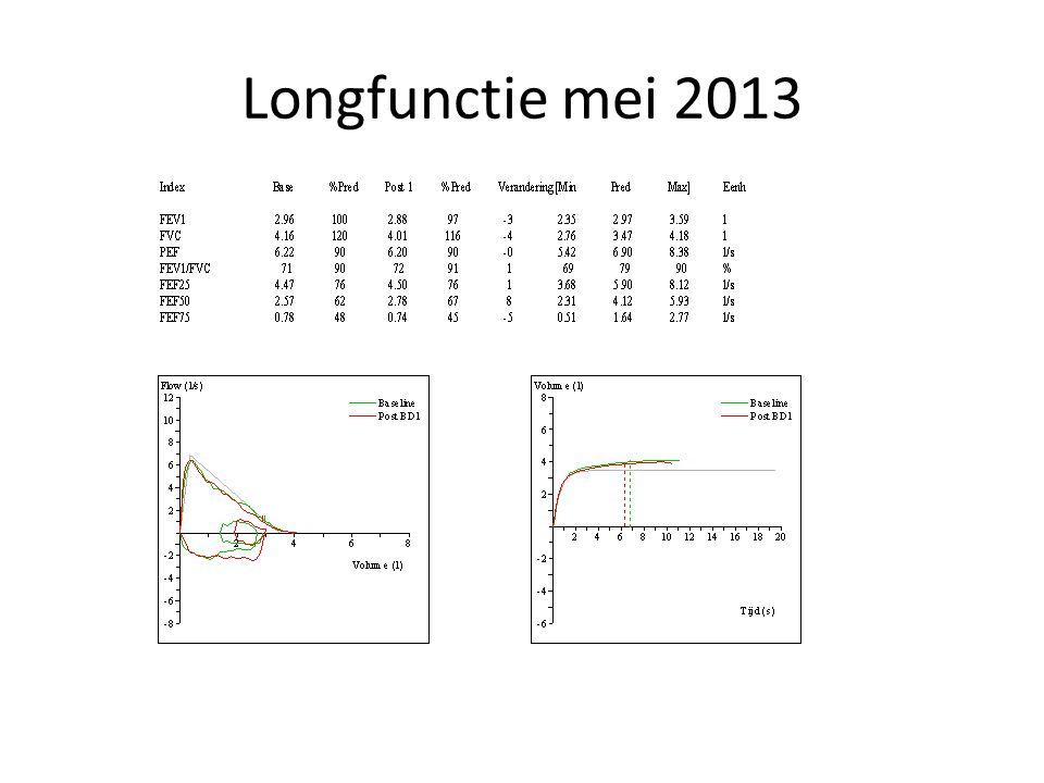 Longfunctie mei 2013