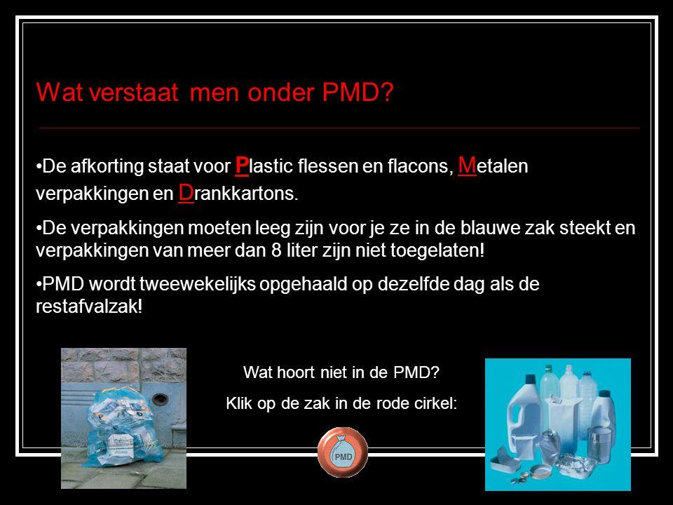 Wat verstaat men onder PMD.