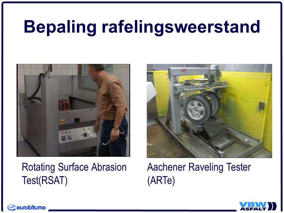 Bepaling rafelingsweerstand Rotating Surface Abrasion Test(RSAT) Aachener Raveling Tester (ARTe)