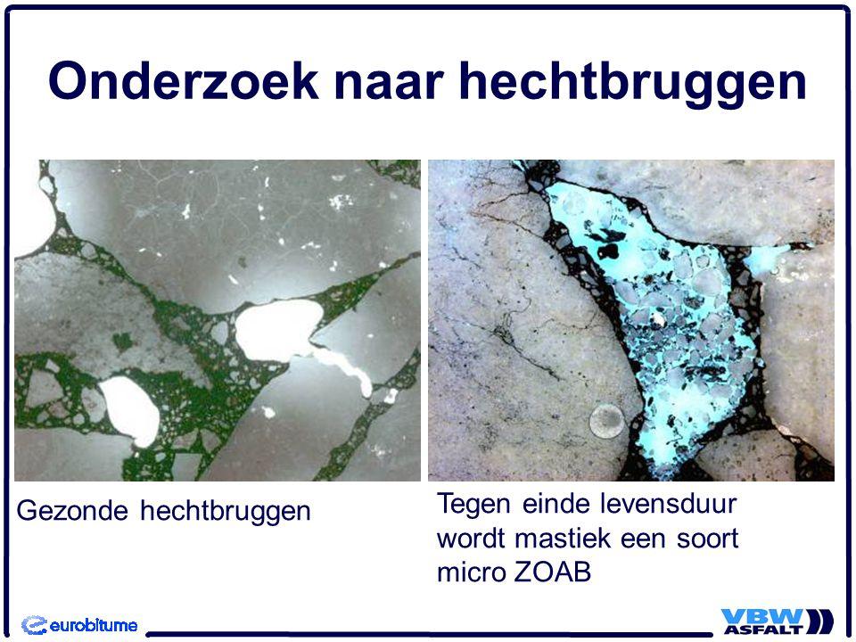 Gezonde hechtbruggen Onderzoek naar hechtbruggen Tegen einde levensduur wordt mastiek een soort micro ZOAB