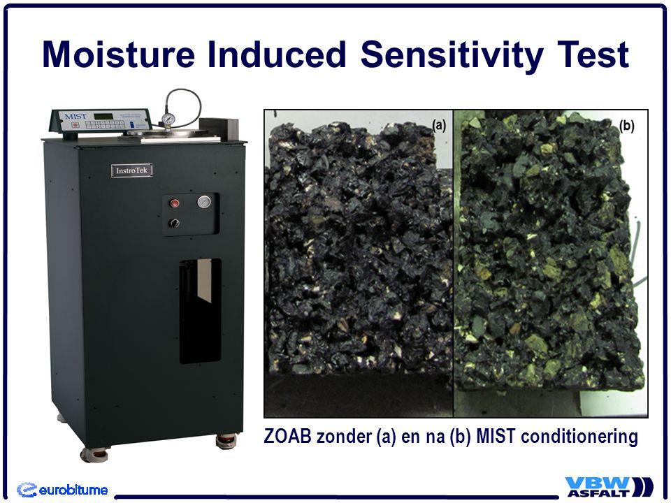 Moisture Induced Sensitivity Test ZOAB zonder (a) en na (b) MIST conditionering