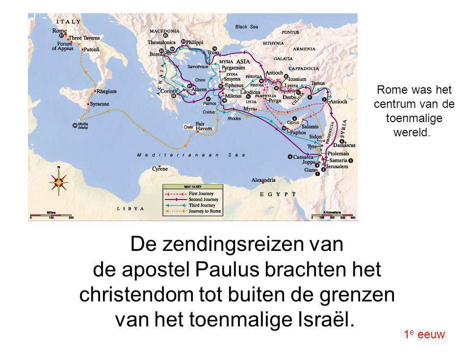 De zendingsreizen van de apostel Paulus brachten het christendom tot buiten de grenzen van het toenmalige Israël. 1 e eeuw Rome was het centrum van de