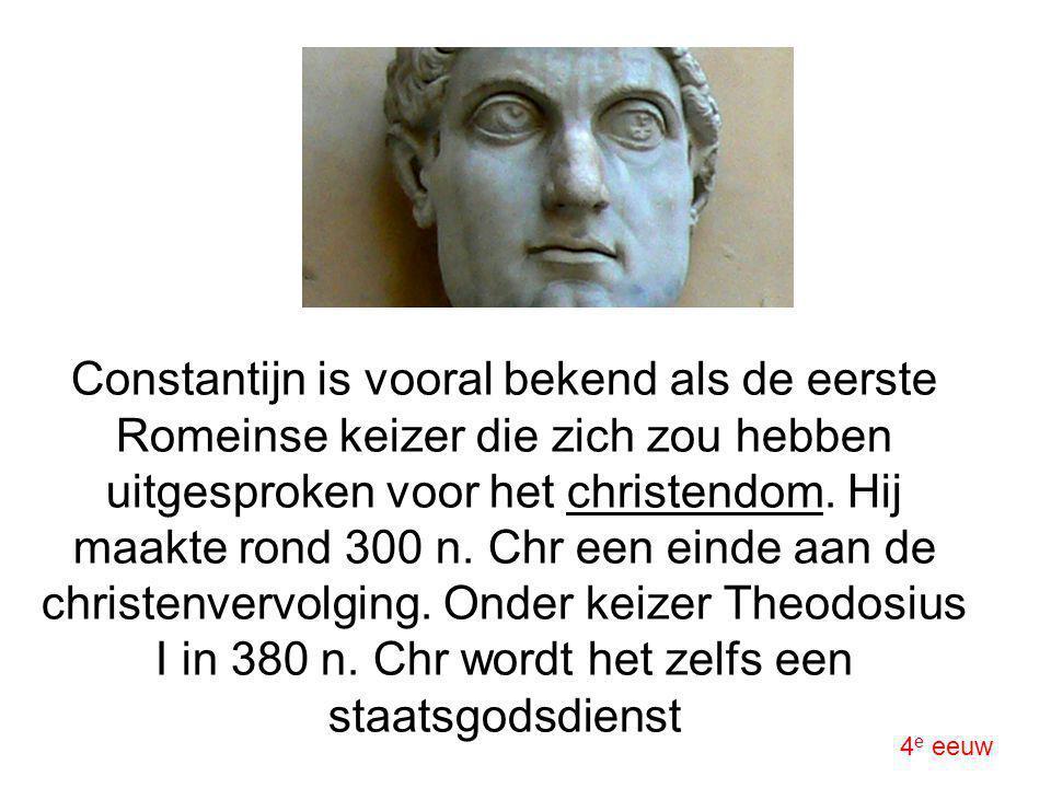 Constantijn is vooral bekend als de eerste Romeinse keizer die zich zou hebben uitgesproken voor het christendom. Hij maakte rond 300 n. Chr een einde