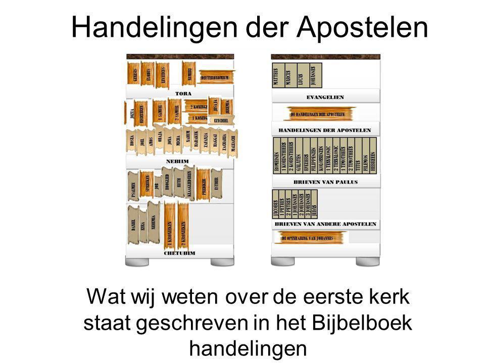 Handelingen der Apostelen Wat wij weten over de eerste kerk staat geschreven in het Bijbelboek handelingen