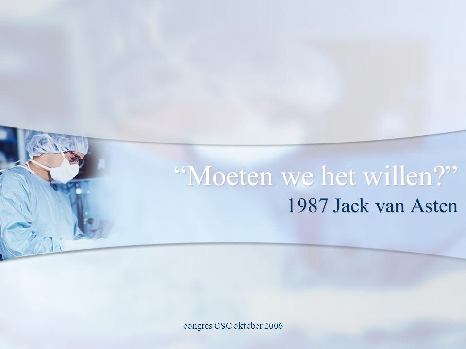 congres CSC oktober 2006 Moeten we het willen 1987 Jack van Asten