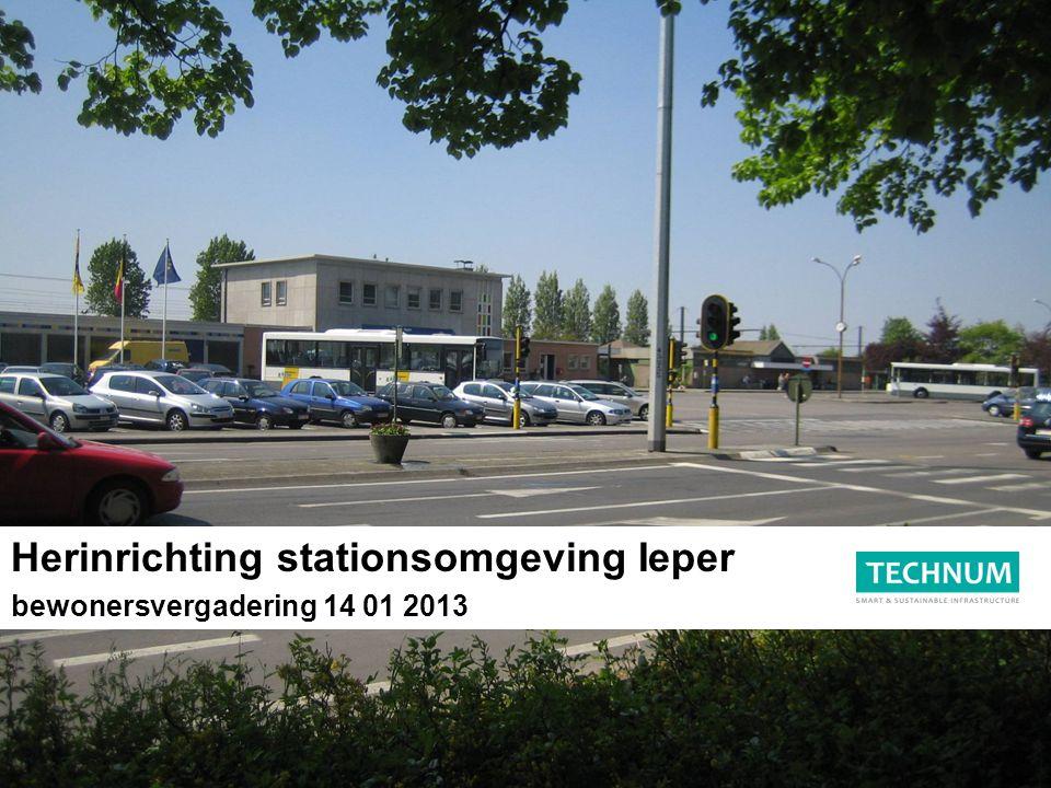Herinrichting stationsomgeving Ieper bewonersvergadering 14 01 2013