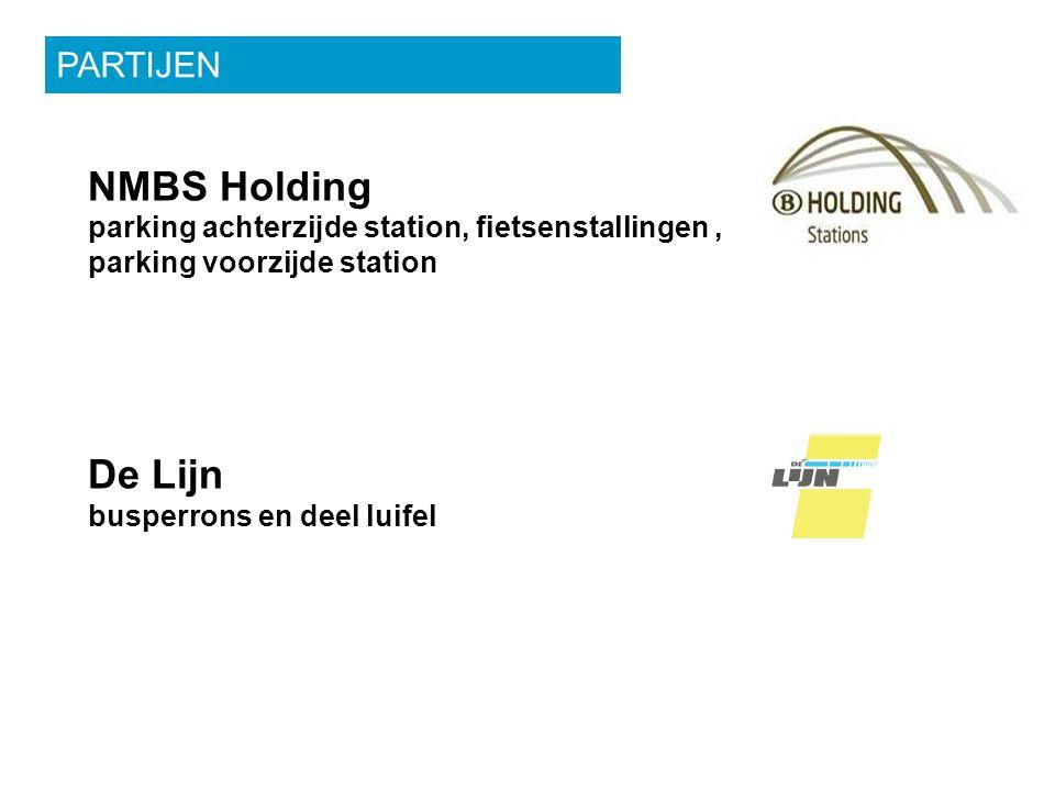 NMBS Holding parking achterzijde station, fietsenstallingen, parking voorzijde station De Lijn busperrons en deel luifel PARTIJEN