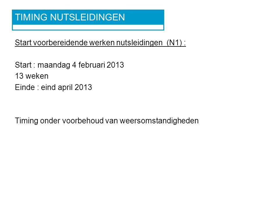 WEGOMLEGGING VOORBEREIDENDE WERKEN NUTS FEBRUARI 2013 – APRIL 2013