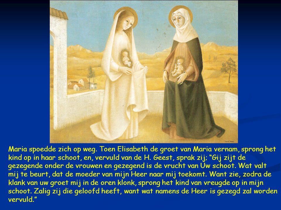 Maria spoedde zich op weg.