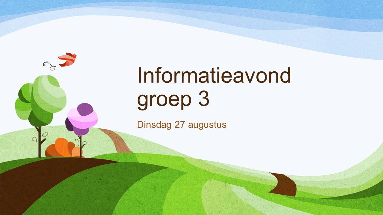 Informatieavond groep 3 Dinsdag 27 augustus