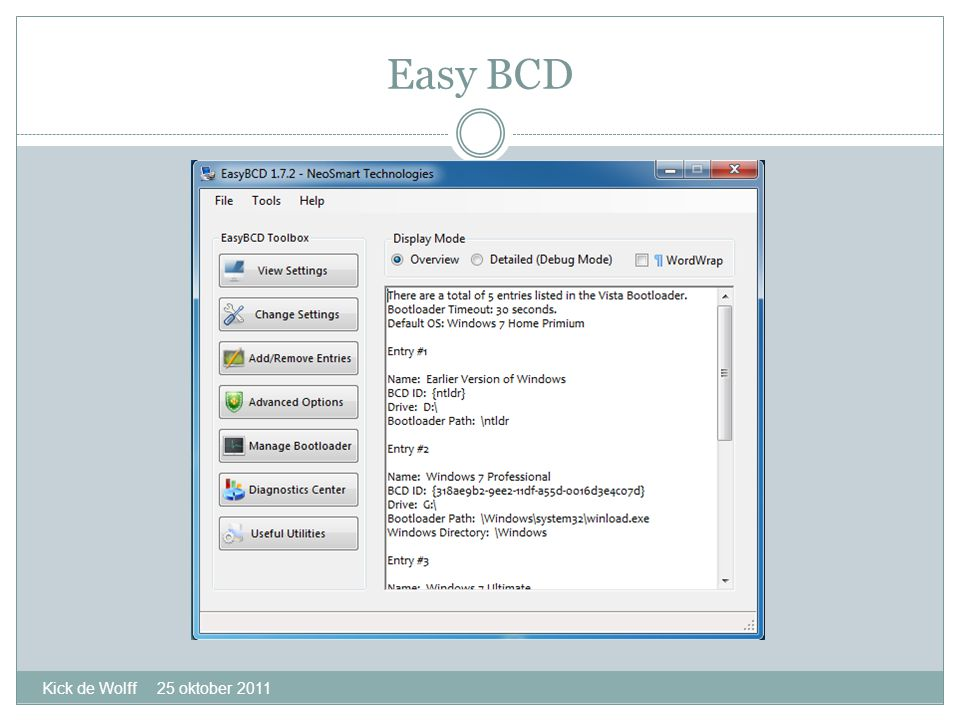 Easy BCD Kick de Wolff 25 oktober 2011