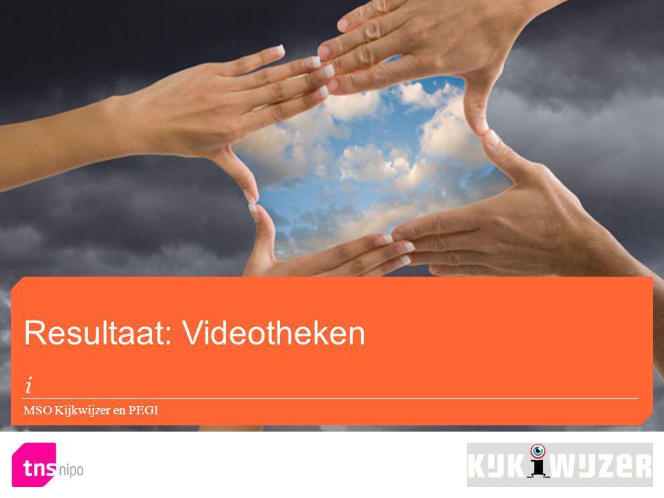 Resultaat: Videotheken MSO Kijkwijzer en PEGI