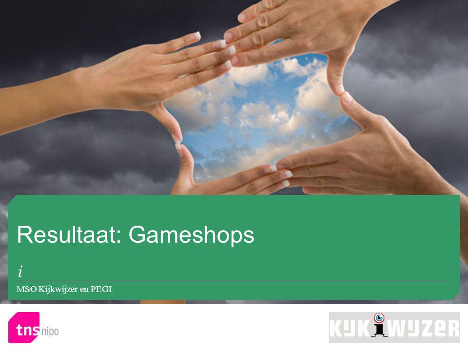 Resultaat: Gameshops MSO Kijkwijzer en PEGI