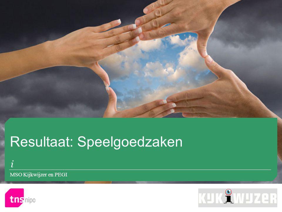 Resultaat: Speelgoedzaken MSO Kijkwijzer en PEGI