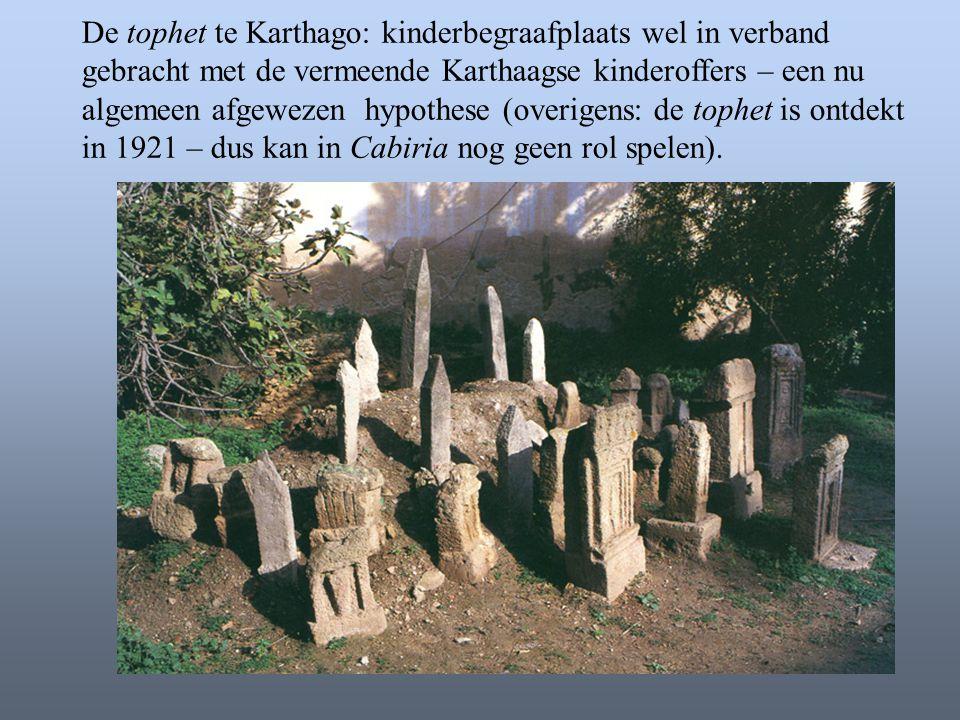 De tophet te Karthago: kinderbegraafplaats wel in verband gebracht met de vermeende Karthaagse kinderoffers – een nu algemeen afgewezen hypothese (ove