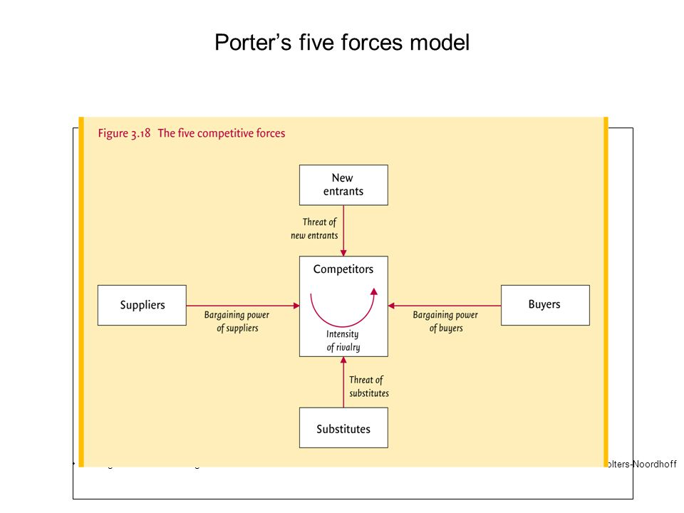 Porter's five forces model 2007 © Wolters-Noordhoff •Organisation and Management
