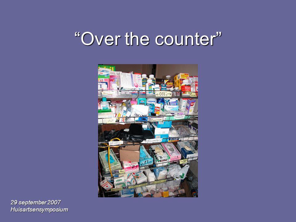 "29 september 2007 Huisartsensymposium ""Over the counter"""