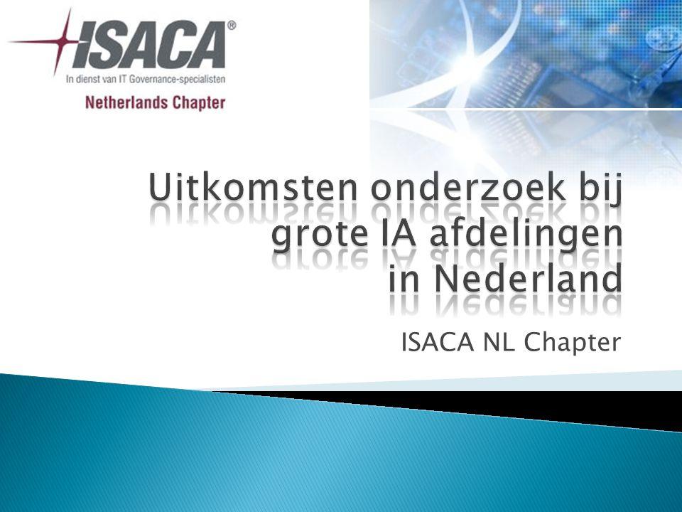 1.Opzet onderzoek 2. Resultaten onderzoek 3. ISACA's Top 5; de meest opmerkelijke uitkomsten 4.