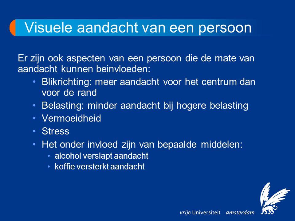 Visuele aandacht van een persoon Er zijn ook aspecten van een persoon die de mate van aandacht kunnen beinvloeden: •Blikrichting: meer aandacht voor h