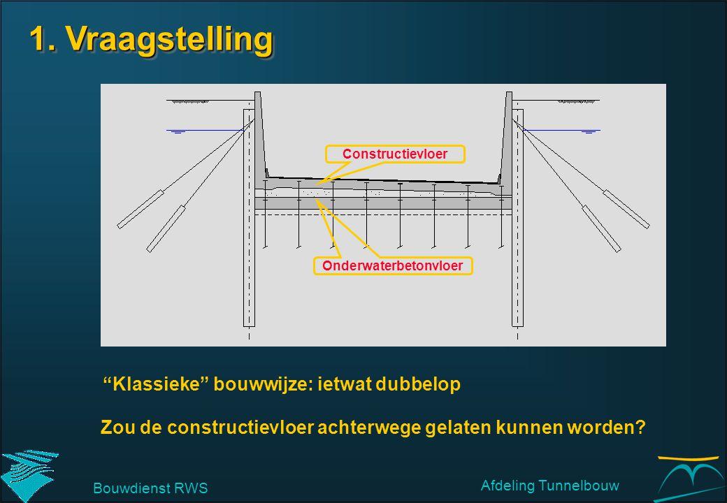 """Onderwaterbetonvloer Constructievloer """"Klassieke"""" bouwwijze: ietwat dubbelop Zou de constructievloer achterwege gelaten kunnen worden? Bouwdienst RWS"""