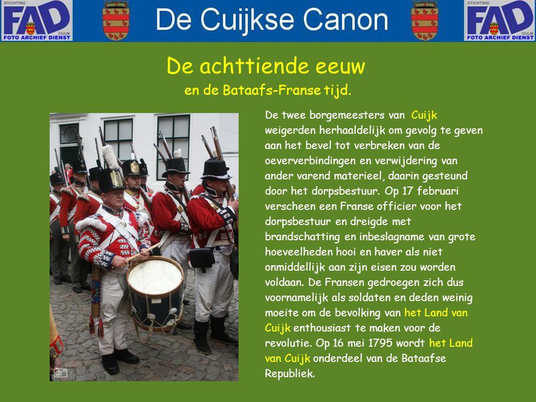 De Republiek der Verenigde Nederlanden stortte volledig in elkaar toen de Fransen hier kwamen.
