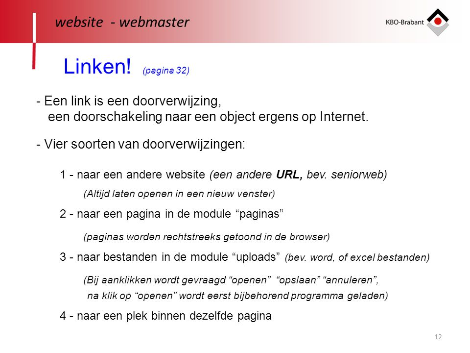 12 website - webmaster Linken.