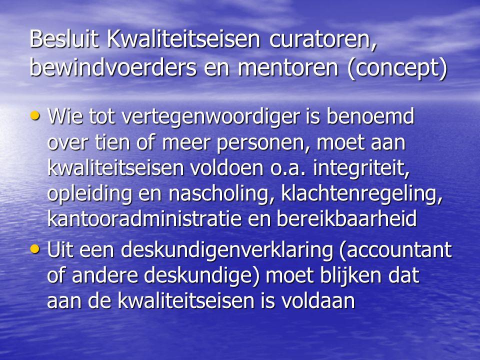 Taken en bevoegdheden van de bewindvoerder en de curator • Kerntaak: doelmatig beleggen van onder bewind gesteld vermogen, tenzij..