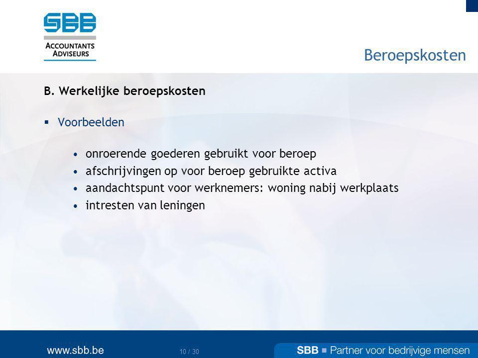 11 / 30 Beroepskosten B.
