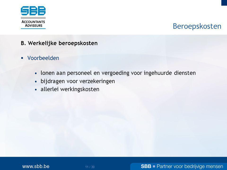 12 / 30 Beroepskosten B.