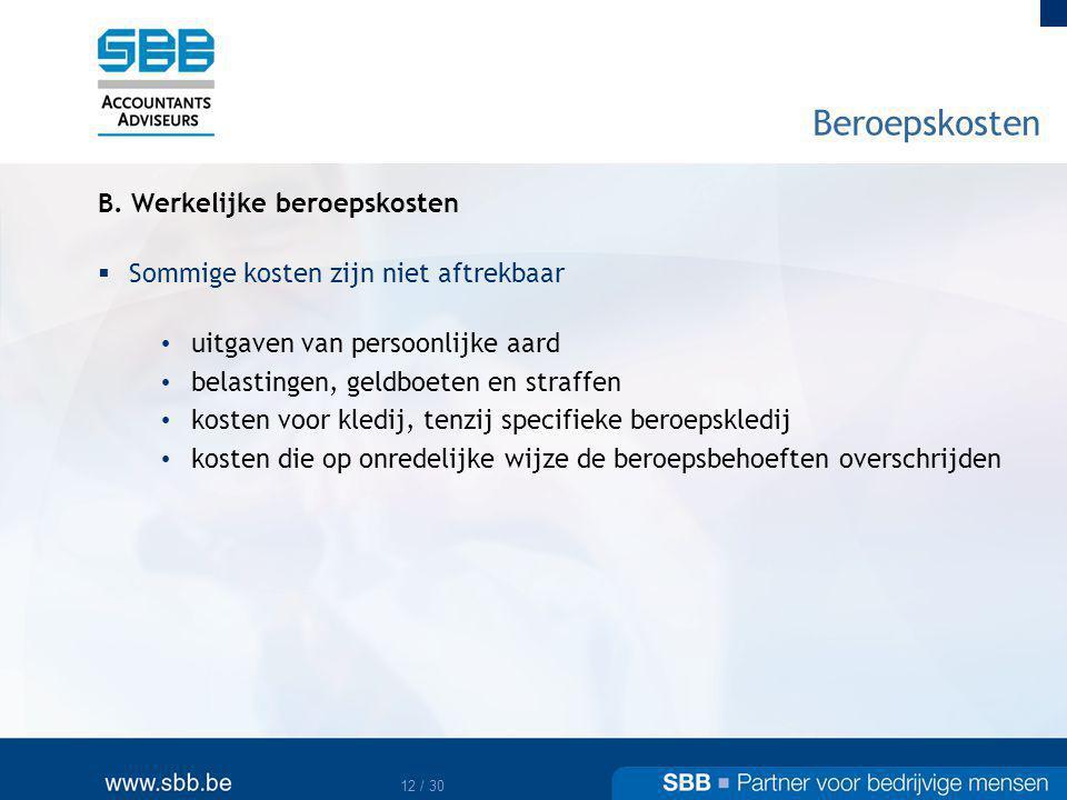13 / 30 Beroepskosten B.