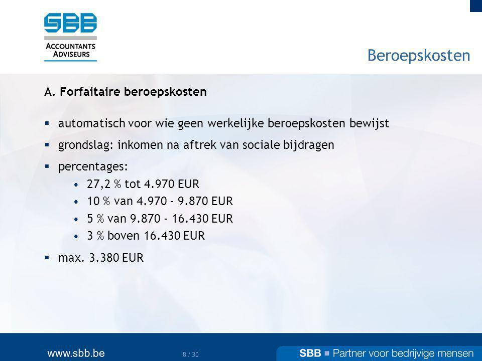 9 / 30 Beroepskosten B.