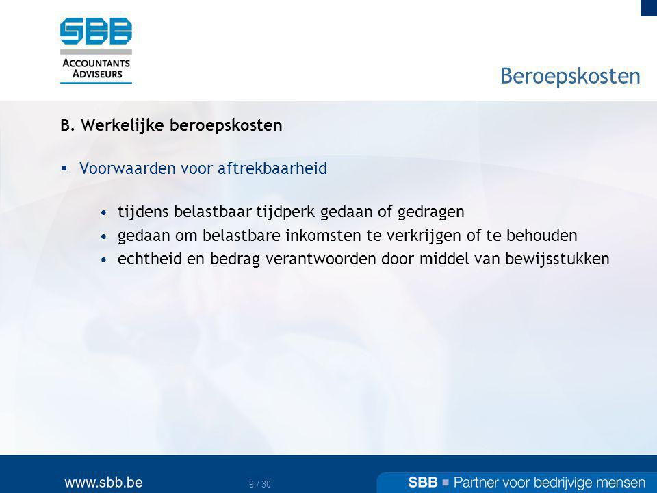 10 / 30 Beroepskosten B.
