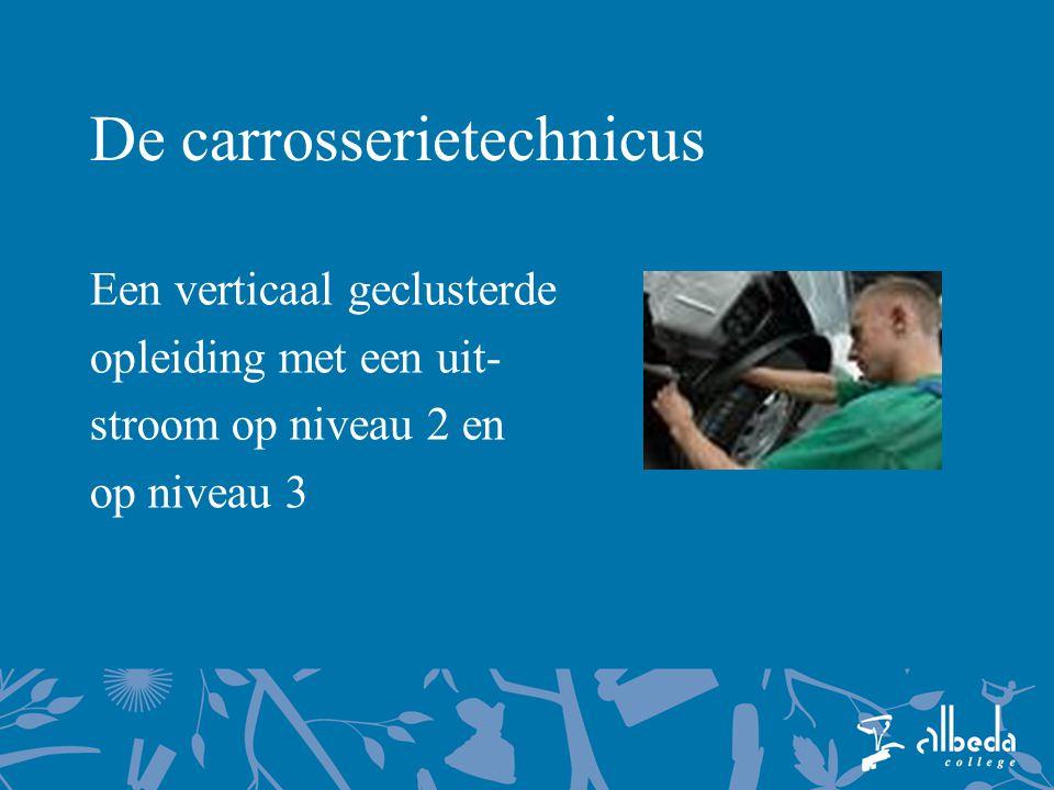 De carrosserietechnicus Een verticaal geclusterde opleiding met een uit- stroom op niveau 2 en op niveau 3