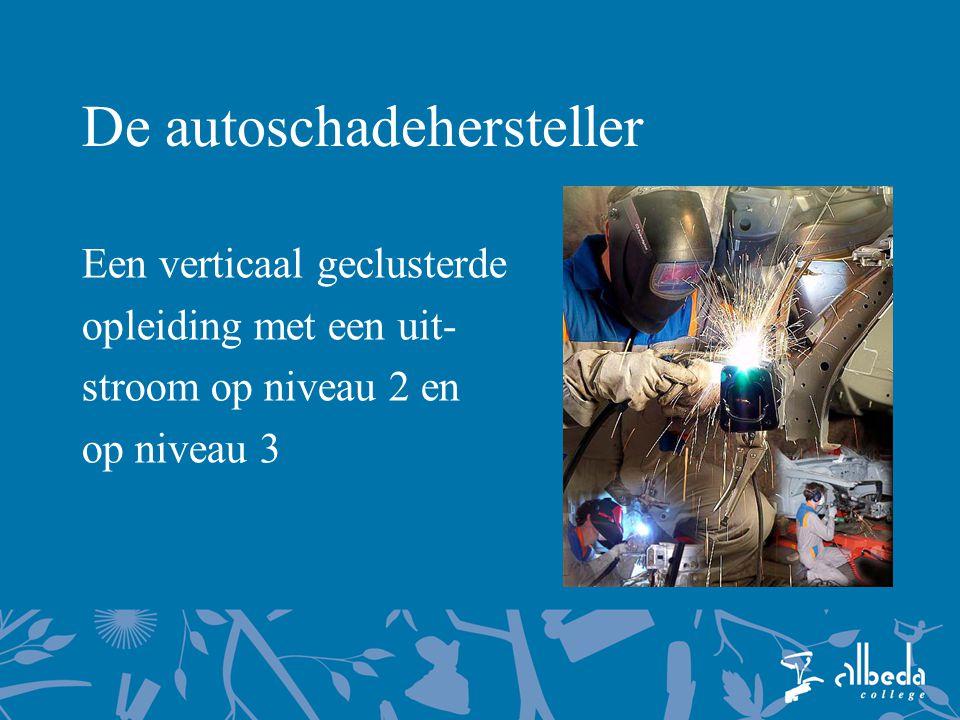 De autoschadehersteller Een verticaal geclusterde opleiding met een uit- stroom op niveau 2 en op niveau 3