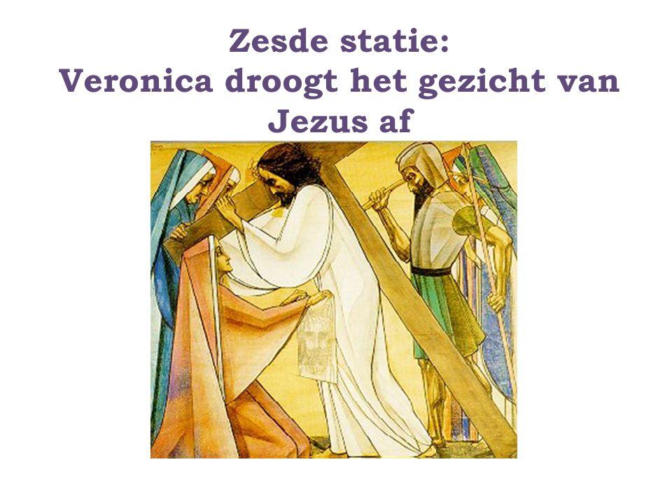 Zesde statie: Veronica droogt het gezicht van Jezus af