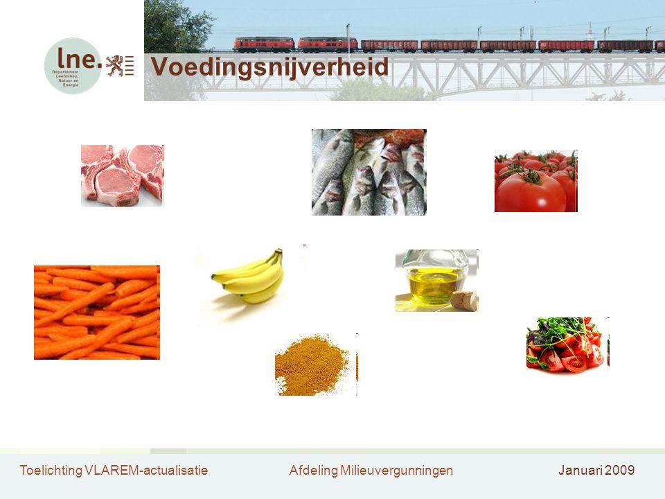 Toelichting VLAREM-actualisatieAfdeling MilieuvergunningenJanuari 2009 Voedingsnijverheid