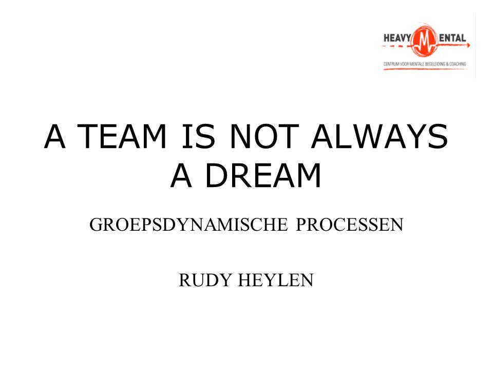 A TEAM IS NOT ALWAYS A DREAM GROEPSDYNAMISCHE PROCESSEN RUDY HEYLEN