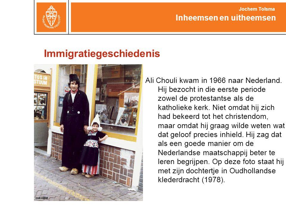 Immigratiegeschiedenis Ali Chouli kwam in 1966 naar Nederland. Hij bezocht in die eerste periode zowel de protestantse als de katholieke kerk. Niet om