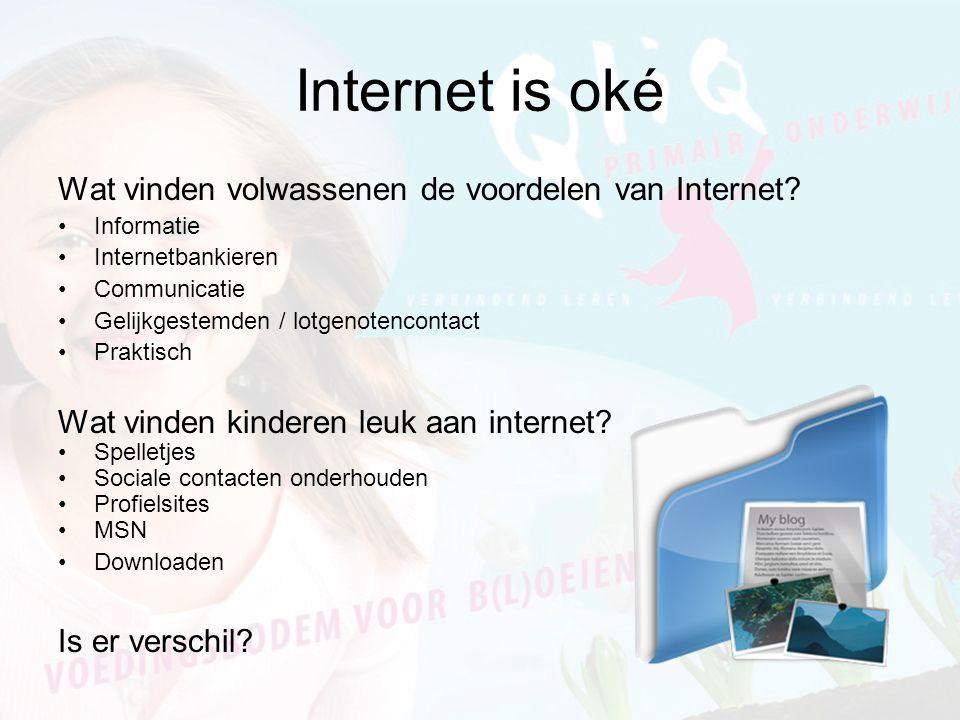 Internet is oké Wat vinden volwassenen de voordelen van Internet.
