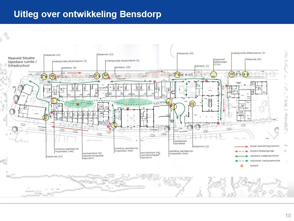 10 Uitleg over ontwikkeling Bensdorp