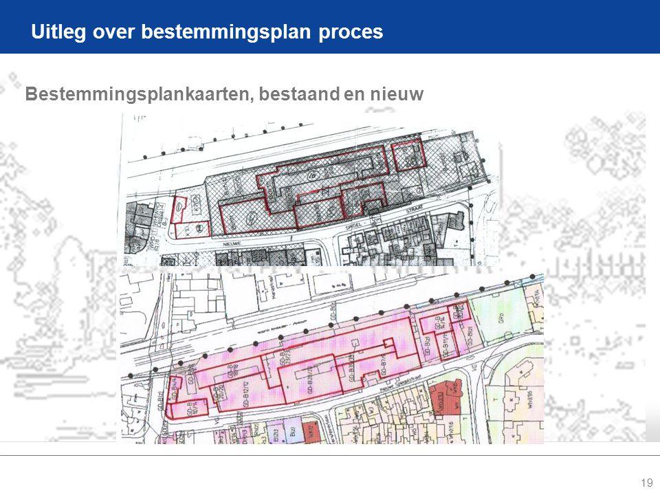 19 Uitleg over bestemmingsplan proces Bestemmingsplankaarten, bestaand en nieuw
